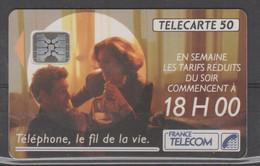 TELECARTE F207a DE 11/91 AVEC 5 NUMEROS NOIRS 34394 - 1991