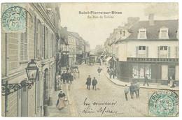 3 Cpa Calvados - Saint Pierre Sur Dives - Rue De Falaise / L'église / Salut De ... - Other Municipalities