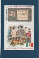Chromo Aiguebelle 7 X 10.5 Le Papier Monnaie Dans Les Divers Pays - Italie - Aiguebelle