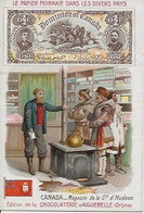 Chromo Aiguebelle 7 X 10.5 Le Papier Monnaie Dans Les Divers Pays - Canada - Aiguebelle