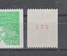 FRANCE / 2002 / Y&T N° 3458a ** : Luquet 0.41 € (roulette Avec N° Rouge Au Dos) X 1 - Nuovi