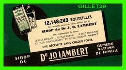 BUVARD - SIROP DU DR. J. O. LAMBERT - REMÈDE NATIONAL DE FAMILLE - - S