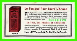 BUVARD - WAMPOULE, EXTRAIT DE FOIE DE MORUE - HENRY K. WAMPOULE & CO LTD, PERTH, ONTARIO - - S