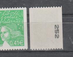 FRANCE / 2002 / Y&T N° 3458b ** : Luquet 0.41 € (roulette N° Noir Au Dos) X 1 - Nuovi