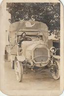 WW1 - Belle Carte Photo D'un Militaire Au Volant De Son Camion Peugeot  - 1916 - Guerra 1914-18