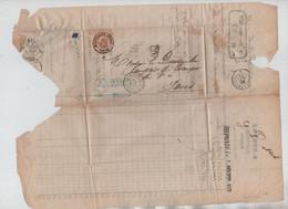 REF4090/ TP 33 S/LAC C. Bleu D.Dekens Banquier à Ninove Succursale BXL C.BXL (Midi) 29/11/1873  > Paris Divers Cachets - 1869-1883 Leopold II