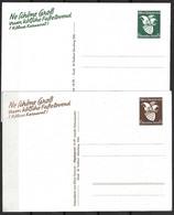 Allemagne/Reich Deux Entiers Postaux Neufs Carnaval De Cologne 1939. TB. A Saisir! - Covers & Documents