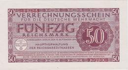DEUTSCHLAND, Verrechnungsschein, 50 Reichsmark 1944 - Verrechnungsscheine - Dt. Wehrmacht