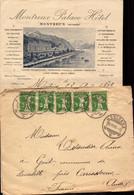Lettre De Suisse, Montreux Palace Hotel Pour La France, Lavalette, Carcassonne, Aude, 1909   (etat Voir Photo) - Postmark Collection
