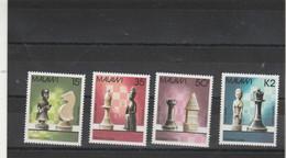 Jeux échecs - MALAWI 1988 Série 4 Timbres ** Neufs Sans Charnière - Echecs