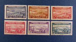 Maroc - Poste Aérienne - Série 6 Valeurs YT N° 34 à 39 * Neuf Avec Charnière - Poste Aérienne