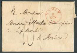 LAC De NAMUR (cachet Type 11 NAMEN) Du 5 Novembre 1830 Vers Malines - 17844 - 1815-1830 (Holländische Periode)