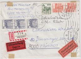 BRD - 2x300+200+3x10 Pfg. B&S, Eil-Einschreibebrief Gg. Rückschein, Hamm 1983 N. - Zonder Classificatie