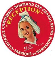 ETIQU. CAMEMBERT Normand 14 G RECEPTION - Cheese