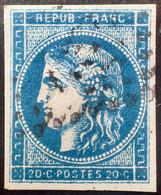DF50478/720 - CERES EMISSION DE BORDEAUX - N°45Ca (II/R3) Bleu Foncé (pliure) - LUXE - Cote (2020) : 120,00 € - 1870 Emisión De Bordeaux