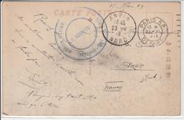 1919 MISSION MILITAIRE FRANCAIS EN SIBERIE CACHET AERONAUTIQUE CARTE ECRIRE DE VIADIVOSTOCT PAR UN SOLDAT FRANCAIS - Missionen