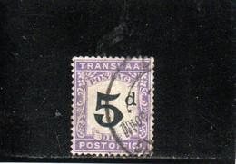 TRANSVAAL 1907 O PLI-CREASE - Transvaal (1870-1909)