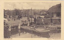 Amsterdam Station Weesperpoort Levendig Tram Trein # 1918    2694 - Amsterdam