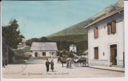 20 – VIZZAVONA – PLACE DE LA GARE -  CALECHE - CP Couleur – Ecrite Au Verso (1916) - Altri Comuni