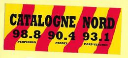 AUTOCOLLANT STICKER - CATALOGNE NORD RADIO - PERPIGNAN PRADES PORT-VENDRES - Stickers
