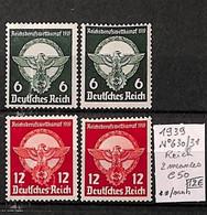 NB - [814498]TB//**/Mnh-c:50e-Allemagne 1939 - N° 630/631, Reich, 2 Nuances - Nuevos