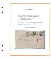 SEPTEMBRE 1871 - Lettre D'ANNONAY - Ardèche -  Avec  N° 25 - 41 Et 37 -  - (W51849-1876 -2)voir Descriptif Avec Scan - 1849-1876: Classic Period