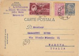 1948 Intero Postale Con Francobolli Aggiunti Da Satu Mare Romania Per L'Italia. - Zonder Classificatie