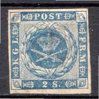 DANEMARK - (Royaume) - 1854-64 - N° 3 - 2 S. Bleu - Neufs
