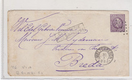 """1886 Intero Postale Cent 25 Ned. Indie """"Via Brindisi"""" Per Breda Con Arrivo. - Zonder Classificatie"""