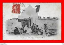 CPA ORAN (Algérie)  Ses Environs.  Marabout Sidi Abd-el-Kader, Animé...S2506 - Oran