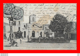 CPA ORAN (Algérie)  Place De La Bastille Et L'église Saint-Esprit, Animé...S2517 - Oran
