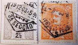 Portugal 1895-1905 _ Y&T N°124-125-126-127-128  - Oblitérés - - Used Stamps