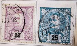 Portugal 1895-1905 _ Y&T N°129-130-131-132-133  - Oblitérés - - Used Stamps