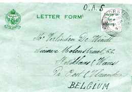 6-9-1945 Letter From Belgian Soldier In YORK To His Wife In Belgium - LETTER FORM - O.A.S. - NAAFI Marking - Other