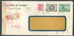 Affranchissement ORVAL à 4Fr. (port Exact) Obl. Sc FLAWINNE Sur Lettre Recommandée Du 17-XI-1943 Vers Zürich (Suisse) + - Cartas