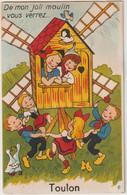 Carte à Système Complète GABY N°6 TOULON 83 Var .Moulin à Vent , Enfants, Oiseaux , Oies,poussins - Mechanical