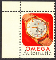 Switzerland Suisse Biel Bienne OMEGA AUTOMATIC Watch Clock Watches Automatic - Cinderella Label Vignette - MNH Corner - Clocks
