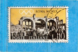 Repubblica. °- 1959 - DECENNALE Della NATO - Unif 865 Lire 110, Usato - 1946-60: Gebraucht