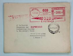 Lettres Expres 1955 Milano Pour Toulon, Affr. 200 L, EMA / Machine SIMA - 1946-60: Marcophilia
