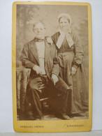 CDV. Photo 1889. M. Mme. François Metz Né 1814 Et 1816. Gerschel Frères, Strasbourg - Ancianas (antes De 1900)