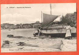 ZOA-34 Sanary-sur-Mer Quartier Des Pécheurs  ANIME Rossier.   Non Circulé - Sanary-sur-Mer