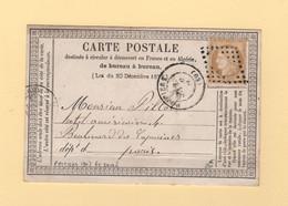 Poitiers - 80 - Vienne - GC Evide - 1873 - Carte Precurseur - 1849-1876: Classic Period