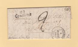 Gentioux - 22 - Creuse - Cursive - Felletin - 1849 - OR Origine Rurale - Courrier De Thezillat - 1849-1876: Classic Period