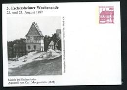 Bund PP106 D2/024 MÜHLE BEI ESCHERSHEIM AQUARELL Morgenstern Frankfurt 1987 - Postales Privados - Nuevos