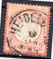 ALLEMAGNE - (Empire) - 1872 - N° 8 - 2 K. Orange - (Aigle En Relief - Petit écusson) - Oblitérés