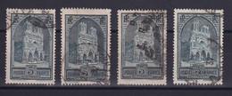 D 164 / LOT N° 259 LES 4 TYPES OBL COTE 48€ - Collections