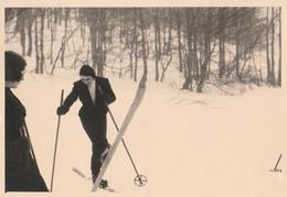 11696.  Fotografia Vintage Donne Femme Sciatrice Sci Neve Anni '50 Italia - 14x9,5 - Sport