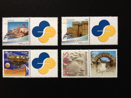 GREECE, 2006 AND 2003, PERSONAL STAMP WITH LABEL ,4 STAMPS , MNH - Ongebruikt