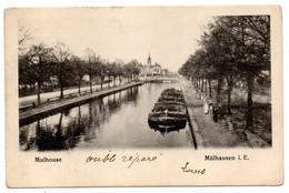 MULHOUSE ---1913--  Canal  (péniche ) ---timbre  Cachet CHOISY LE ROI ..carte Précurseur.  ......à  Saisir - Mulhouse
