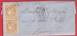 N°43B UN TIMBRE TTB L'AUTRE TOUCHE GC 1299 DIEPPE SEINE INFERIEURE POUR ROUEN - 1849-1876: Classic Period